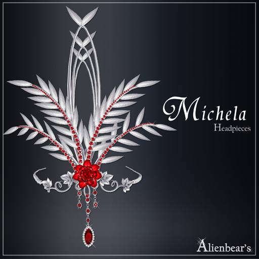 Michela headpieces red