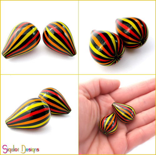 Stripy drop beads