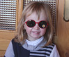 Trying on Sunglasses