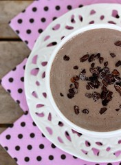 Chocolate cashew nut smoothie