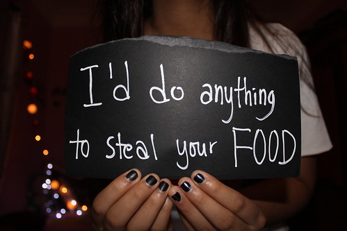 HAHA there's this picture on tumblr tat says ' i'd do anything to hold your hand'' and i was thinking, why not smth about FOOD? :o