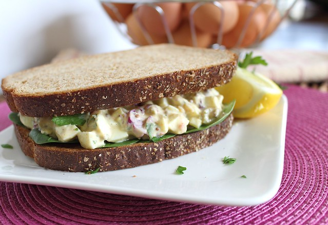 Healthy dijon egg salad
