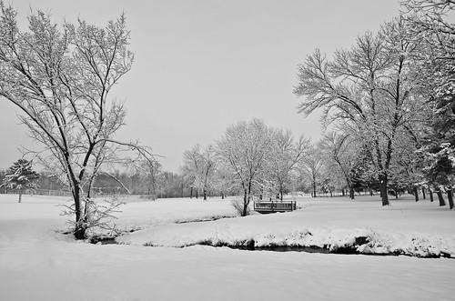 Snowy Rock River Park