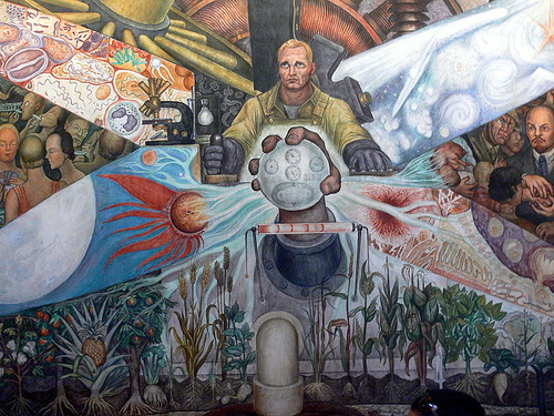 Diego Rivera, Man, Controller of the Universe, 1934, detail.