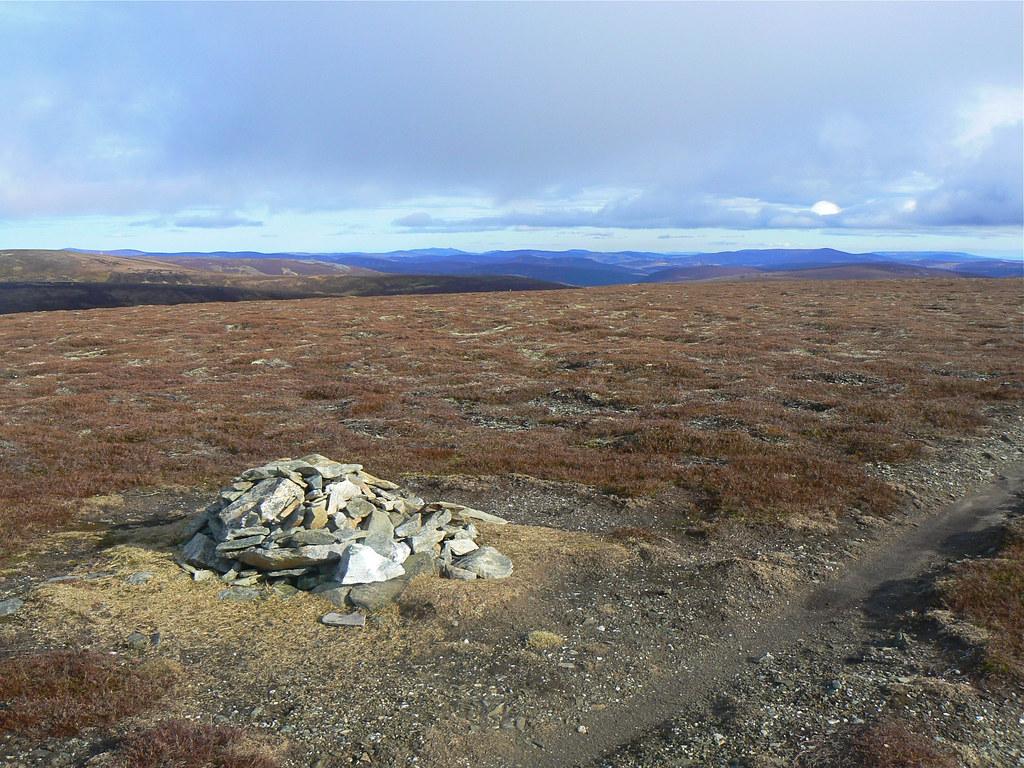 Summit cairn on Carn Ealasaid