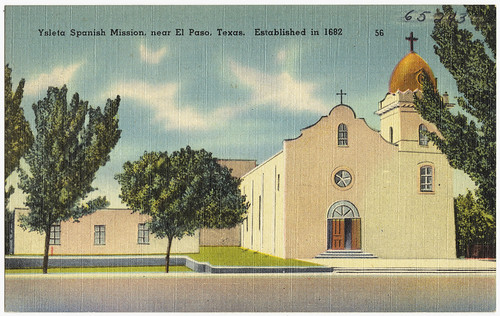 Ysleta Spanish Mission, near El Paso, Texas. Established in 1682