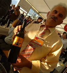 Sladić with his Maraština at Dalmatia Wine Expo 2011 in Makarska