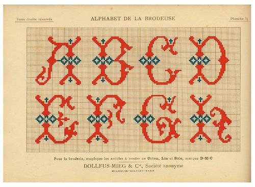 011-Alphabet de la Brodeuse1932- Thérèse de Dillmont