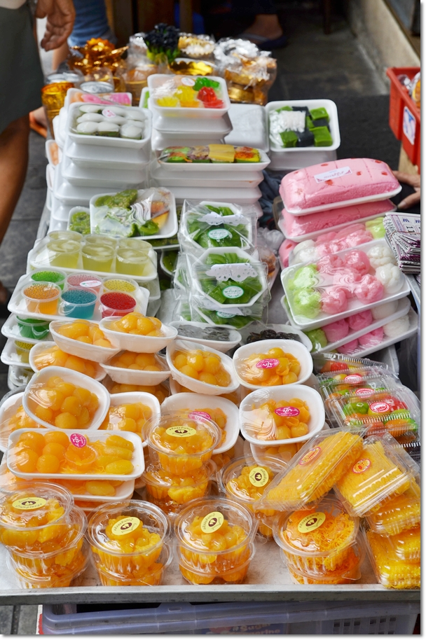 Variety of Thai Sweet Desserts
