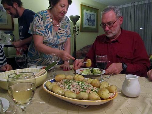 Family Dinner in Santiago