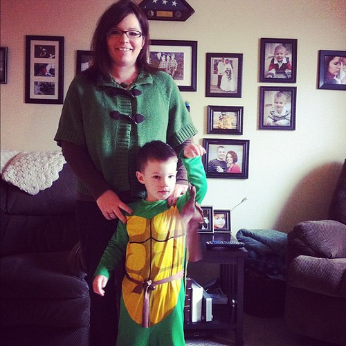 Today's green involves a sweater & a ninja turtle. #17daysofgreen