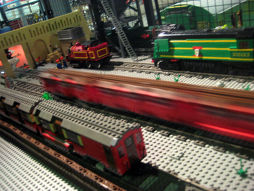 Model Tube Trains in Lego - Museum Acton Depot - London Transport Museum Open Weekend March 2012