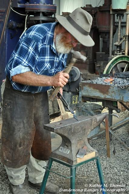 Blacksmith in action