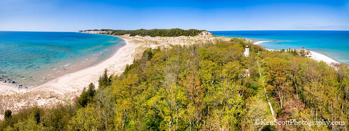 South Fox Island ... tower view, spring panorama