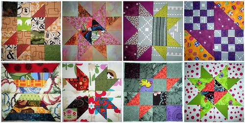 Blogger BOM - 8 Blocks Done