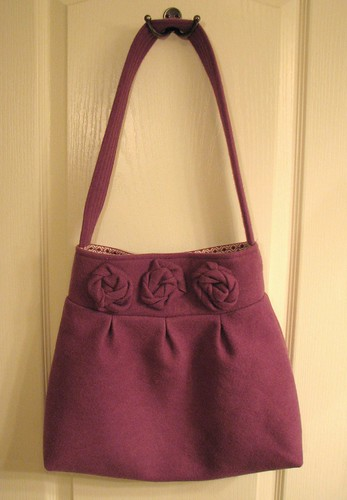 Purple wool bag