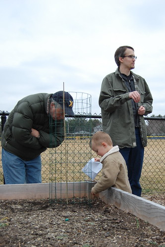 Community Garden: Gabe planting peas