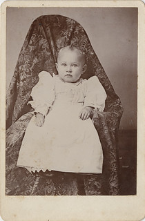 "What is Under the Cloth? - Cabinet Card of Baby with ""Hidden Mother"""