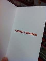 inside of card reads: I prefer Valentine