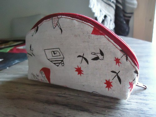 Pouch 1 - Little Red Dumpling Side View