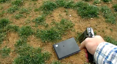 Father Shoots Daughter's Laptop After She Criticizes Him on Facebook [video]