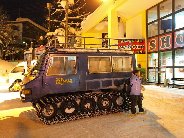 Hotel TAGAWA的履帶車