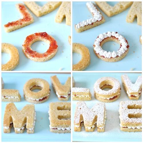 Victoria sandwich cake Love Letters