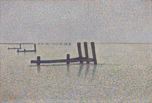 Alfred William Finch - The Channel at Nieuport [c.1889] by Gandalf's Gallery
