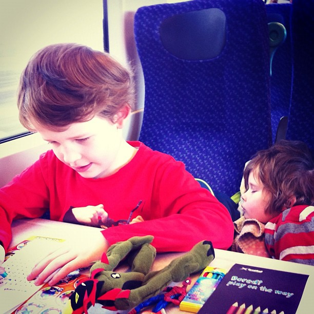 The boys were good as gold on the train to their dad's. And now I'm freeeeee till Thursday!! :D 44/366