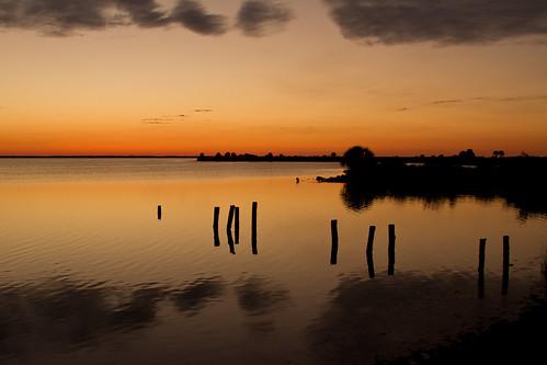 sunset sun water silhouette clouds lagoon indianriver merrittislandnationalwildliferefuge