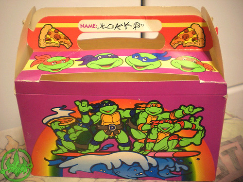 "MELLO SMELLO :: ""TEENAGE MUTANT NINJA TURTLES"" Valentine Kit .. box iv (( 1994 ))"