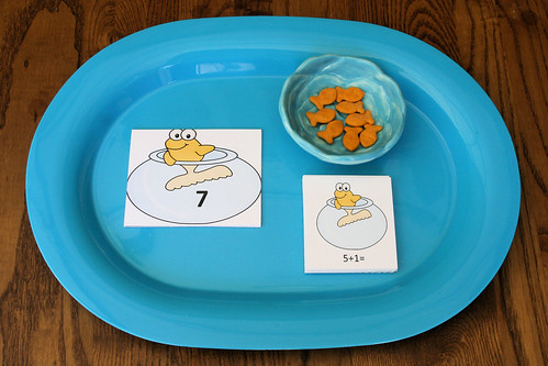 Montessori-Inspired One Fish, Two Fish Addition Tray