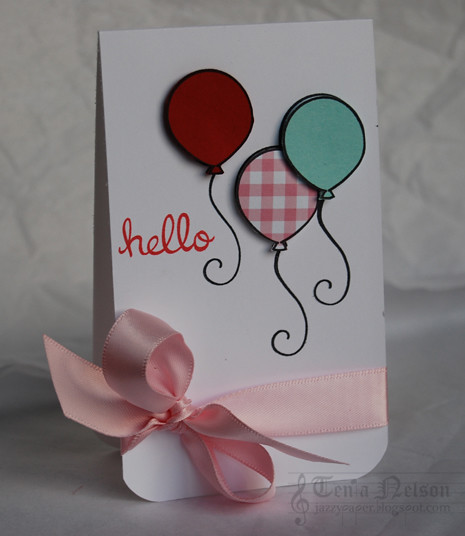 Hello Balloons Card