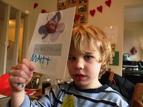signing valentines with his nom de plume