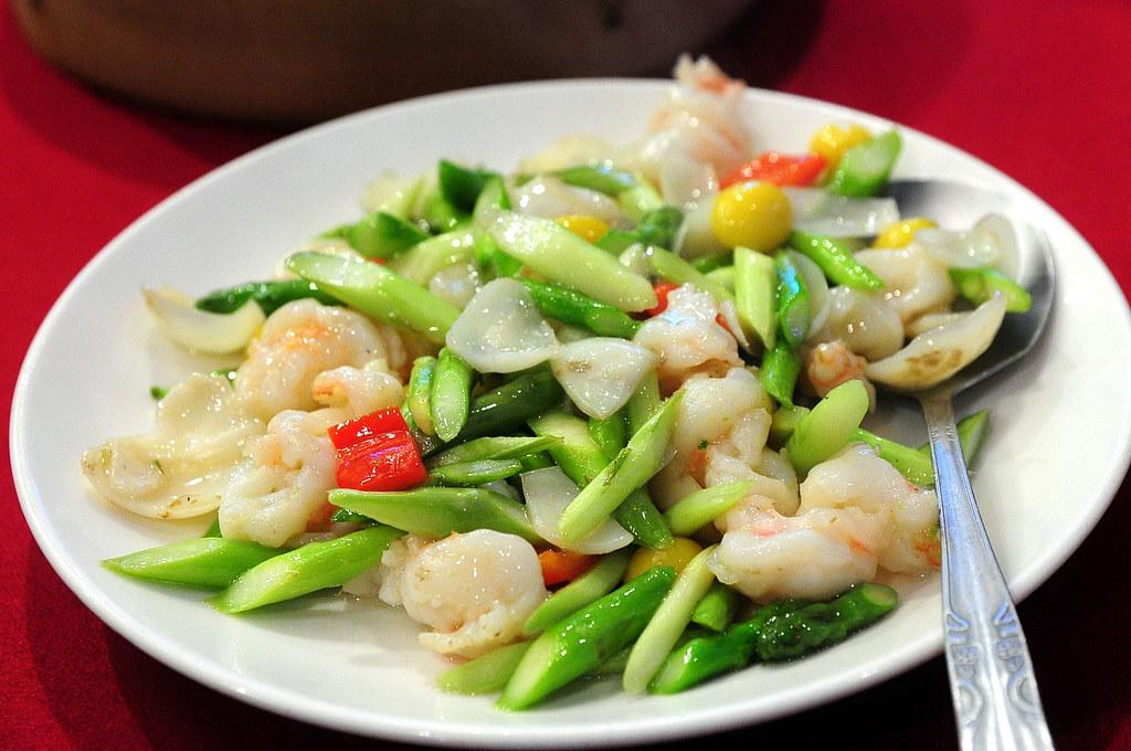 點水樓 - 蘆筍百合果明蝦片