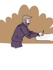 #lemix @paleospot dessinant un dino