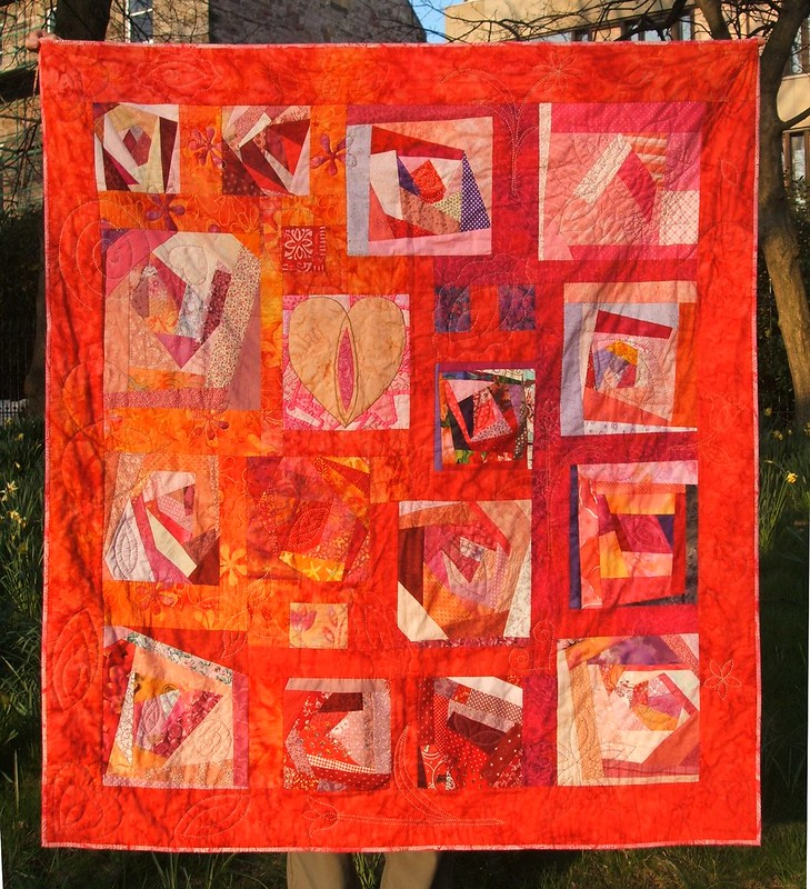 Crazy Women Quilt in the sunshine