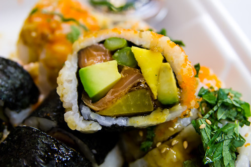 Salmon and Mango Maki at Andy's Sushi Bar