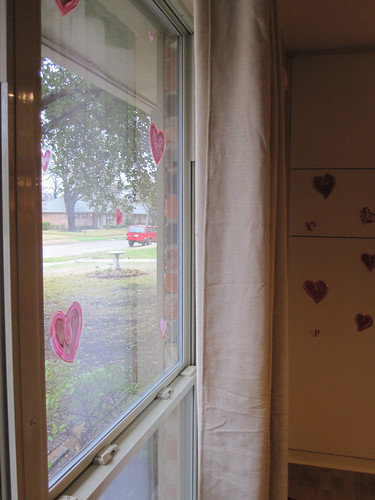 Heart window stickies