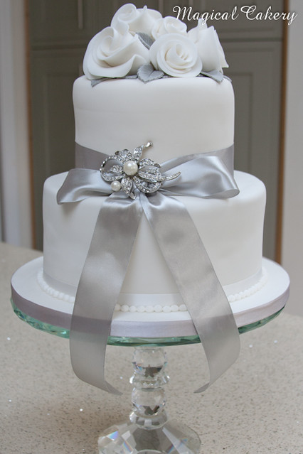 blue and silver wedding cake ideas silver wedding anniversary cake flickr photo 11960