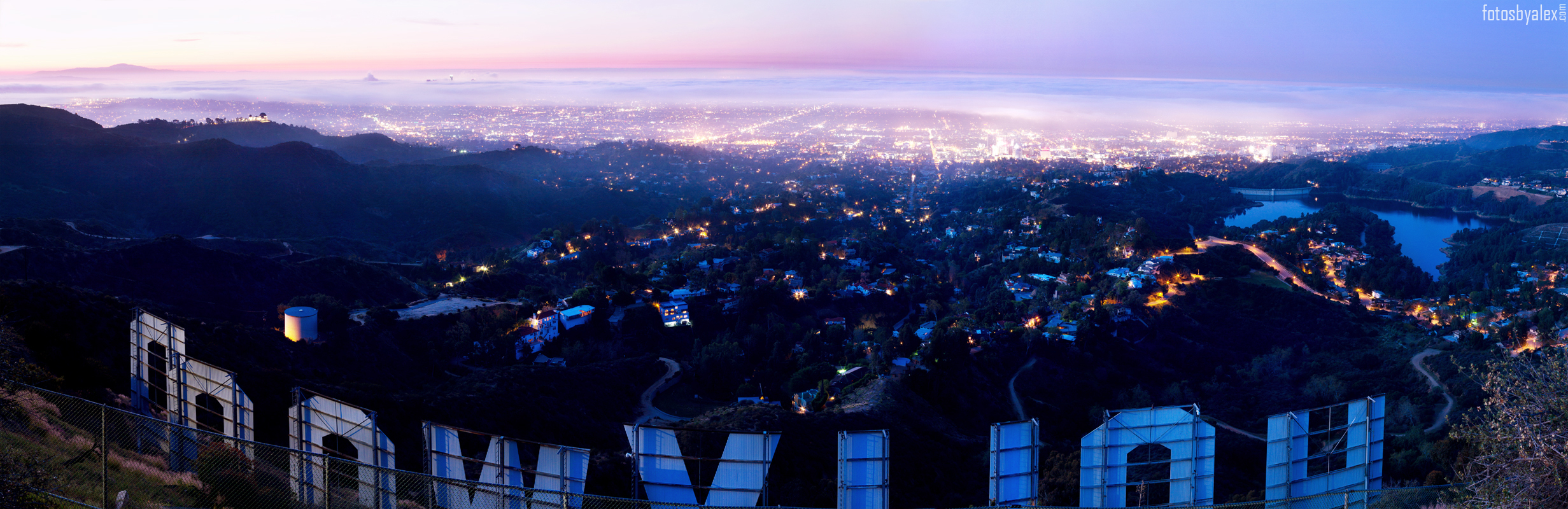 Sunrise La Los Angeles Hollywood Hollywoodsign Griffithobservatory Hollywoodhills Marinelayer Downtownlosangeles Lakehollywood Canon35l Canon7d Fotosbyalex