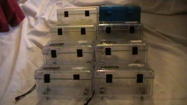8 plastic cases