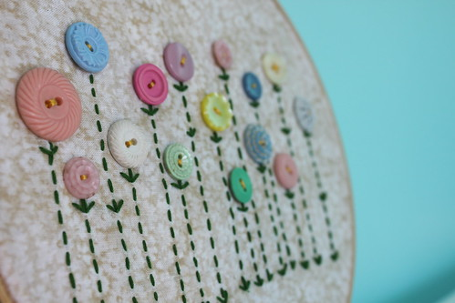 Aunty Jill's button hoop