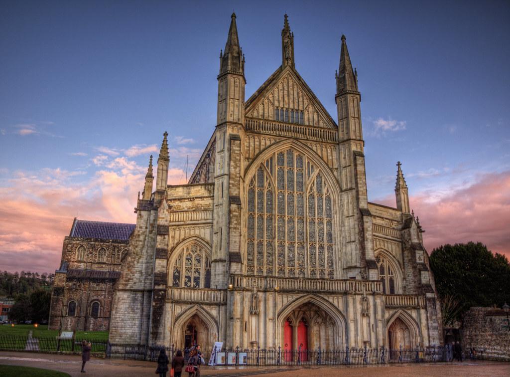 Fachada de la Catedral de Winchester