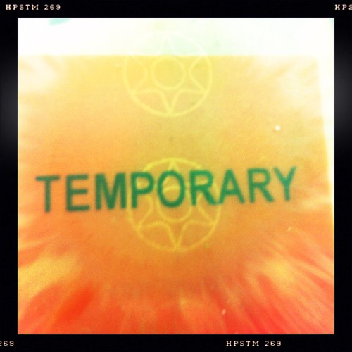 How temporary is temporary? Day 45/366.