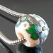 Charm bead : Ivory coast garden