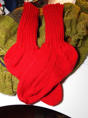 David's red socks done