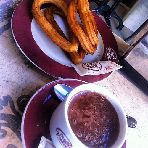 Churros con chocolate