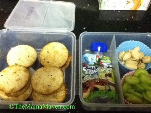 Pb & J on Whole Grain Crackers