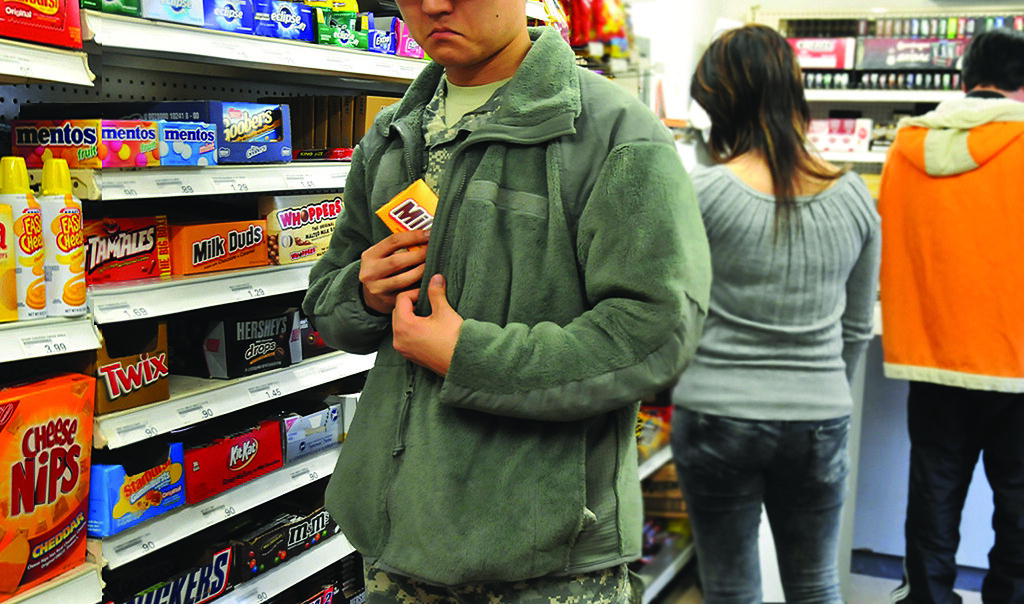 Shoplifting at Exchange costs military in many ways
